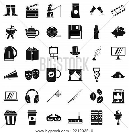 Culture icons set. Simple style of 36 culture vector icons for web isolated on white background