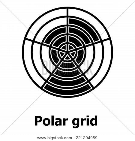 Polar grid icon. Simple illustration of polar grid vector icon for web.