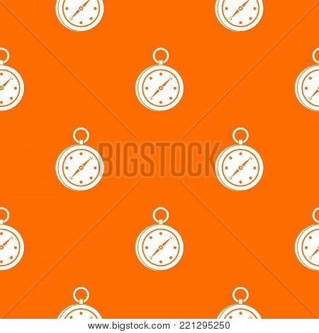 Multifunction knife pattern repeat seamless in orange color for any design. Vector geometric illustration