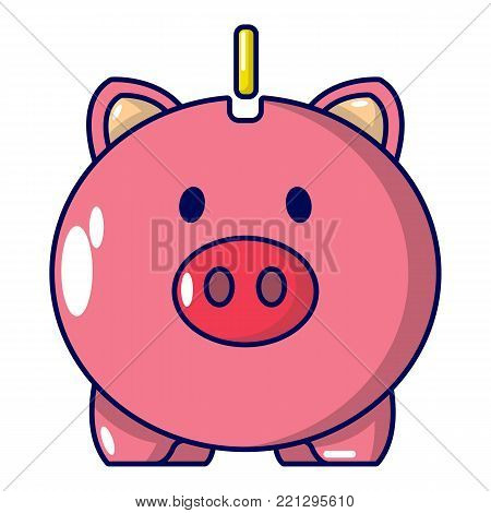 Safe money icon. Cartoon illustration of safe money vector icon for web