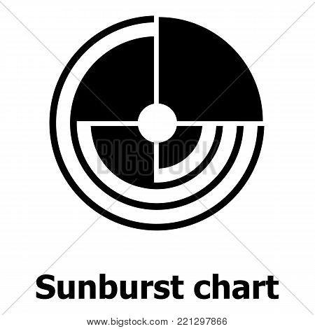 Sunburst chart icon. Simple illustration of sunburst chartvector icon for web.