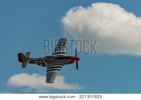 READING, PA - JUNE 3, 2017: NORTH AMERICAN P-51D