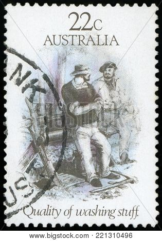 AUSTRALIA - CIRCA 1981: A stamp printed in Australia shows Quality of Washing Stuff, circa 1981