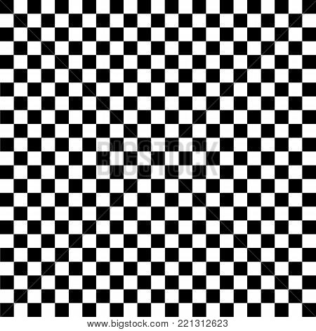 Black and white checkered background. Chess pattern. Vector illustration