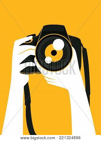 Breathtaking camera illustration vector pictures