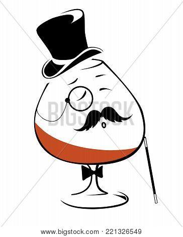 Cognac - drink these aristocrats, minimalistic image