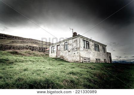 Abandoned house in Iceland hdr dramatic elaboration