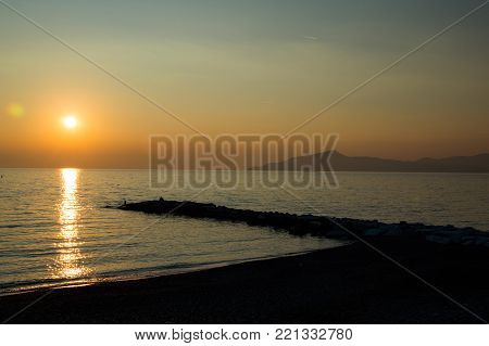 a view of the sestri levante pier