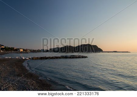 a view of the sestri levante beach