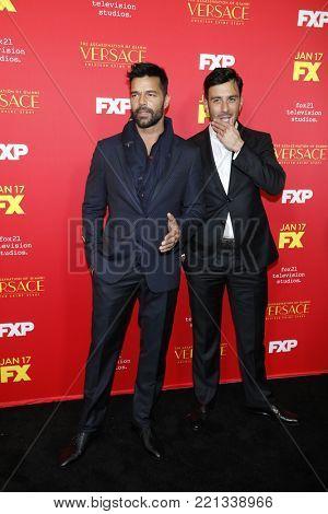 LOS ANGELES - JAN 8:  Ricky Martin, Martim Yosef at the