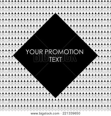 Abstract square ethnic promotion background. Ethnic brochure templates. Design ethnic elements. Promotion fashion and etc. Vector illustration EPS.8 EPS.10