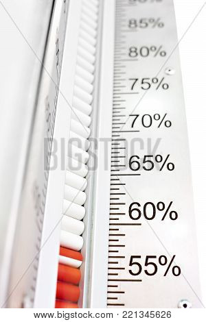 The humidity measuring device in the percent