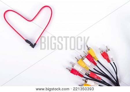Red Heart Shaped Ethernet Network Cable - IT Valentine's Day