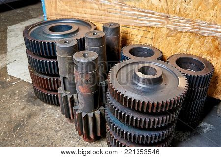 Idle gears and shafts are at the factory