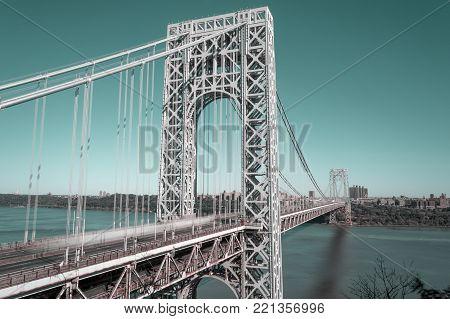 George Washington Bridge taken with long exposure.