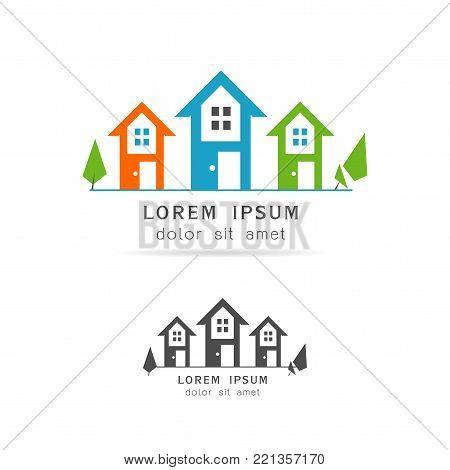 Creative Real Estate Logo Design. House Logo Design. Real Estate Vector Icon illustration