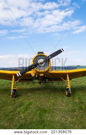 Zlin Z-37 Cmelak Czech Agricultural Airplane Used As Crop Duster