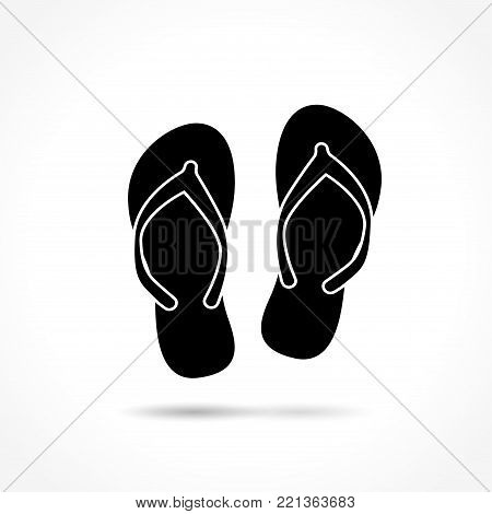 Illustration of flip flops on white background