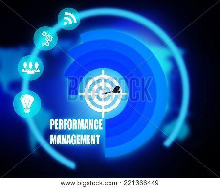 Performance Management concept plan graphic background color