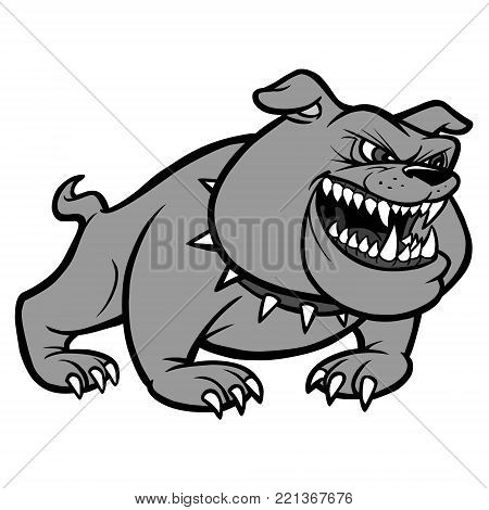 Bulldog Classic Icon Illustration - A vector cartoon illustration of a Bulldog Classic Icon.
