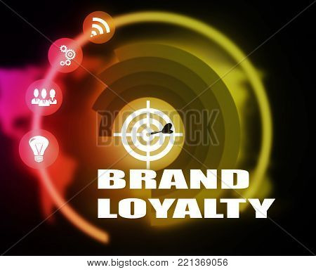Brand Loyalty concept plan graphic background color