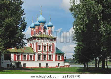Tsarevich Dmitri's Church on Blood in Uglich, Russia, one of the four most beautiful churches in the world according to one version