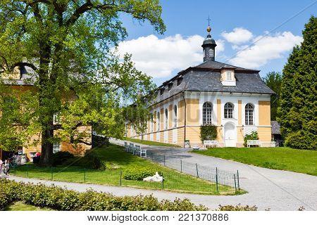 Czech Republic, Kozel - Apr14, 2016: Hunting Castle In The Classical Style Kozel Built In The 18Th C