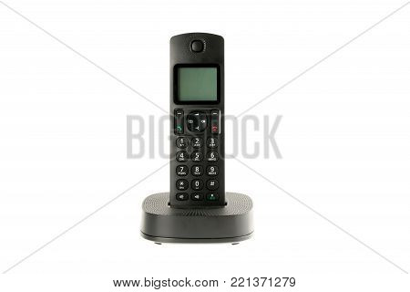 modern cordless dect phone with charging station