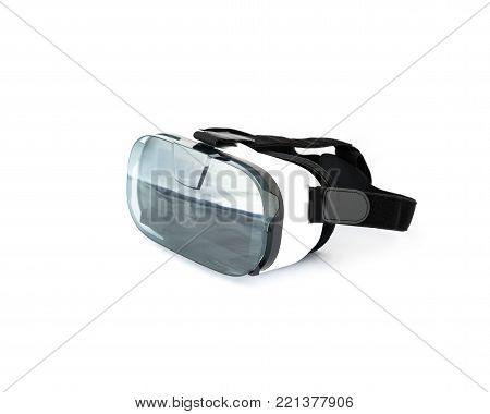 Vr Glasses Or Virtual Reality Headset Isolated On White