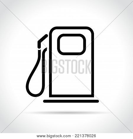 Illustration of fuel pump icon on white background