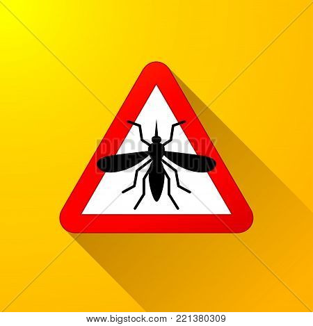 Illustration of mosquito warning abstract concept design