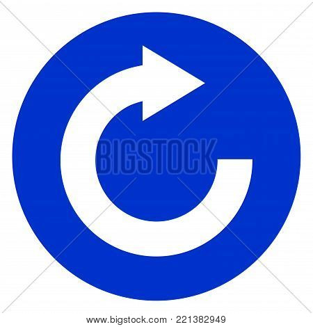 Illustration of reload blue circle icon concept