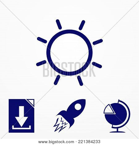 Vector blue envelope icon. Image for print, web. Envelope icon for apps. Vector graphic design element. Clipart.