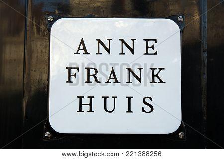 Anne Frank House In Amsterdam Netherlands