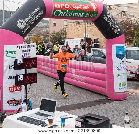 Mi'ilya, Israel, December 22, 2017 : Participant of the annual race