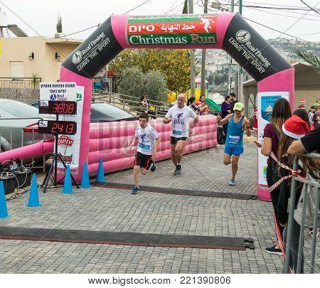 Mi'ilya, Israel, December 22, 2017 : Participants of the annual race