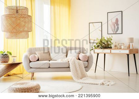 Bright Living Room With Window