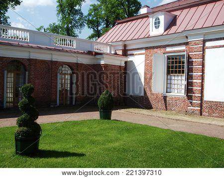 Petergof, Saint Peterburg, Russia - JUNE 12, 2013: Holiday home in Petergof park. Mon pleasure