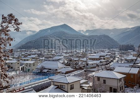 Looking over the Matsushiro ward, Nagano.  Historically, Matsushiro was the seat of the Sanada clan, and many of the old buildings of that time still exist in the town.