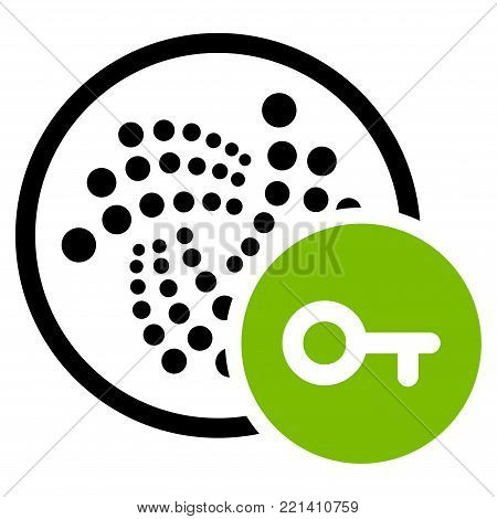 Key Iota flat vector pictogram. An isolated icon on a white background.