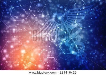 2D illustration medical structure background, medical technology background