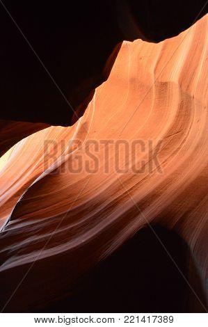 Amazing Geological Formations In Antelope Canyon. Land of Navajos. Geology. Holidays. Travel. June 24, 2017. Arizona. EEUU. USA.