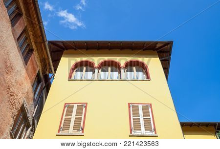 Italy, Piedmont, Lake Orta, Orta San Giulio, architectures of the country center