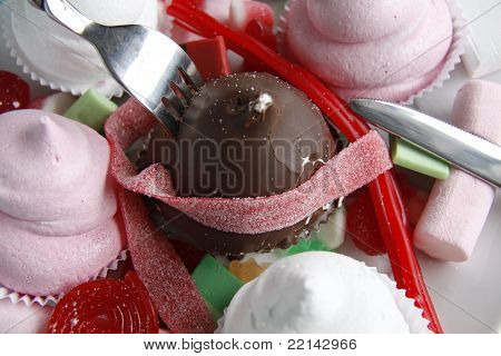 Unsafe food, sweets and sugar