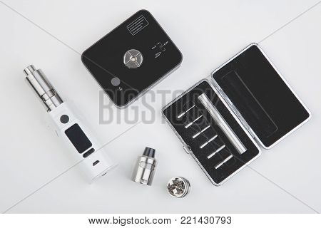 Vaping Device Mod On White Table
