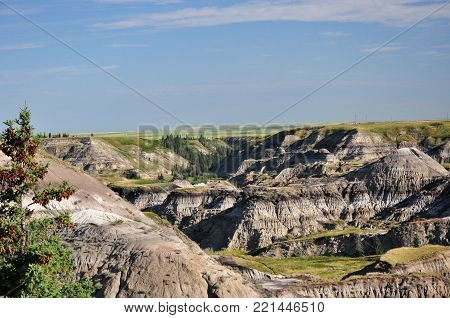 Hoodoo Rock Formations  in canyons in Summer