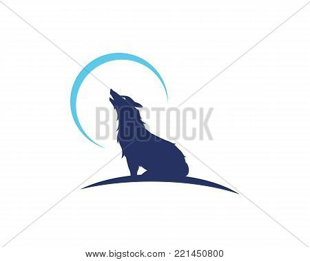 wolf logo template vector photo free trial bigstock