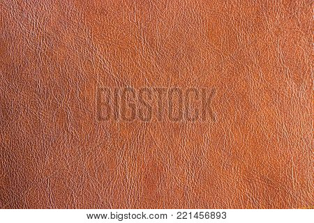Closeup leatherette brown texture background. Abstract leather vintage