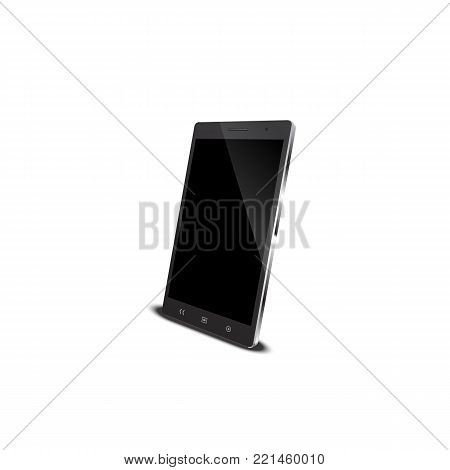 Vector smart phone,mobile phone,cell phone.3d perspective view isolated on white backgrounds illustration
