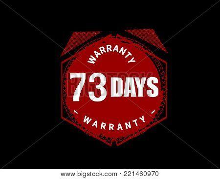 73 days warranty icon vintage rubber stamp guarantee